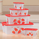 Stawberry Food Storage Containers, Set Of 6