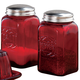 Red Depression Glass Salt & Pepper Shakers