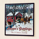 Personalized Covered Bridge Metal Plaque 12x12