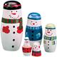 Snowman Nesting Dolls, One Size