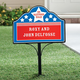 Personalized Patriotic Stars Magnetic Yard Sign
