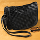 Basketweave Bag with Flap, One Size