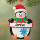 Personalized Penguin Ornament With Sign