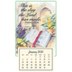 Psalm 118:24 Mini Magnetic Calendar, One Size, Multicolor