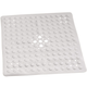 Square Shower Mat, One Size, White
