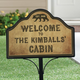 Personalized Cabin Magnetic Yard Sign, One Size