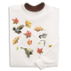Swirling Leaves Birds Sweatshirt