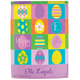 Personalized Easter Eggs Garden Flag, One Size