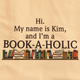 Personalized Book-A-Holic T-Shirt