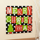 12x12 Merry Christmas Metal Wall Plaque