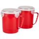 22 oz Microwave Soup Mug w/Vented Lid by Chef's Pride Set/2
