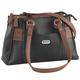 B.Amici™ Nicole RFID Greenwich Multi Pocket Leather Satchel