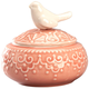 Ceramic Bird Trinket Box