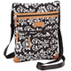 Quilted Black and White Crossbody Bag