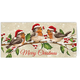 Personalized Birds with Hats Christmas Card Set of 20