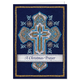 Personalized Cross Stitch Cross w/Bookmark Card Set/20
