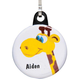 Personalized Giraffe Zipper Pull