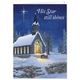 Personalized Midnight Chapel Christmas Card Set of 20