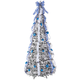 7' Snow Frosted Winter Style Pull-Up Tree by Hoilday Peak™