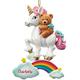 Personalized Teddy Bear & Unicorn Ornament