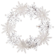 Color-Changing Snowflake Wreath