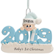 Personalized 2019 Baby's First Christmas Ornament