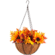 Fully Assembled Fall Floral Mix Lighted Basket by OakRidge™