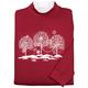 White Trees with Swirls Sweatshirt by Sawyer Creek