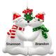 Personalized Kissing Polar Bear Couple Ornament