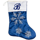 Personalized Frosted Winter Style Snowflake Stocking by Holi