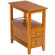 2-Drawer Side Table with Charging Station by OakRidge™