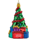 Personalized Glass Tree with Gifts Ornament