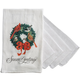 Holiday Wreath Flour Sack Towel with 4 Pc. Utility Towel Set