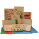 Kraft Boxes with Foil 10 Boxes & 20 Sheets of Tissue
