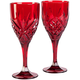 Dublin Red Acrylic Wine Glasses Set of 2