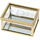 Personalized Glass Gold-Trimmed Keepsake Box with Mirror