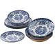 Tonquin Blue 12 Piece Set Dinnerware