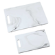 2 Pc Faux Marble Melamine Cutting Board Set by HMP