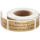 Personalized Large Print Roll Labels, Set of 200