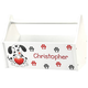 Personalized Puppy Hearts Toy Caddy