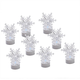 Color-Changing Snowflake Tealights, Set of 8