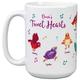 Personalized Tweet Hearts Mug