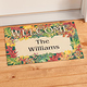 Personalized Harvest Leaves Doormat