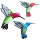 Metal Hummingbird Hangers, Set of 3 by Fox River™ Creations