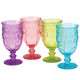 Victoria Pressed Glass Goblet set of 4 by William Roberts