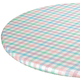 Spring Breeze Checked  Vinyl  Elasticized Table Cover