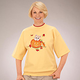 Kitten In Jack-O-Lantern Short Sleeve Sweatshirt