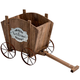 Welcome Wagon Wooden Planter Box