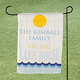 Personalized Lake House Garden Flag