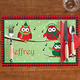 Personalized Holiday Owls Placemat
